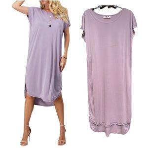 Scoop Neck Midi T-Shirt Dress NWT!